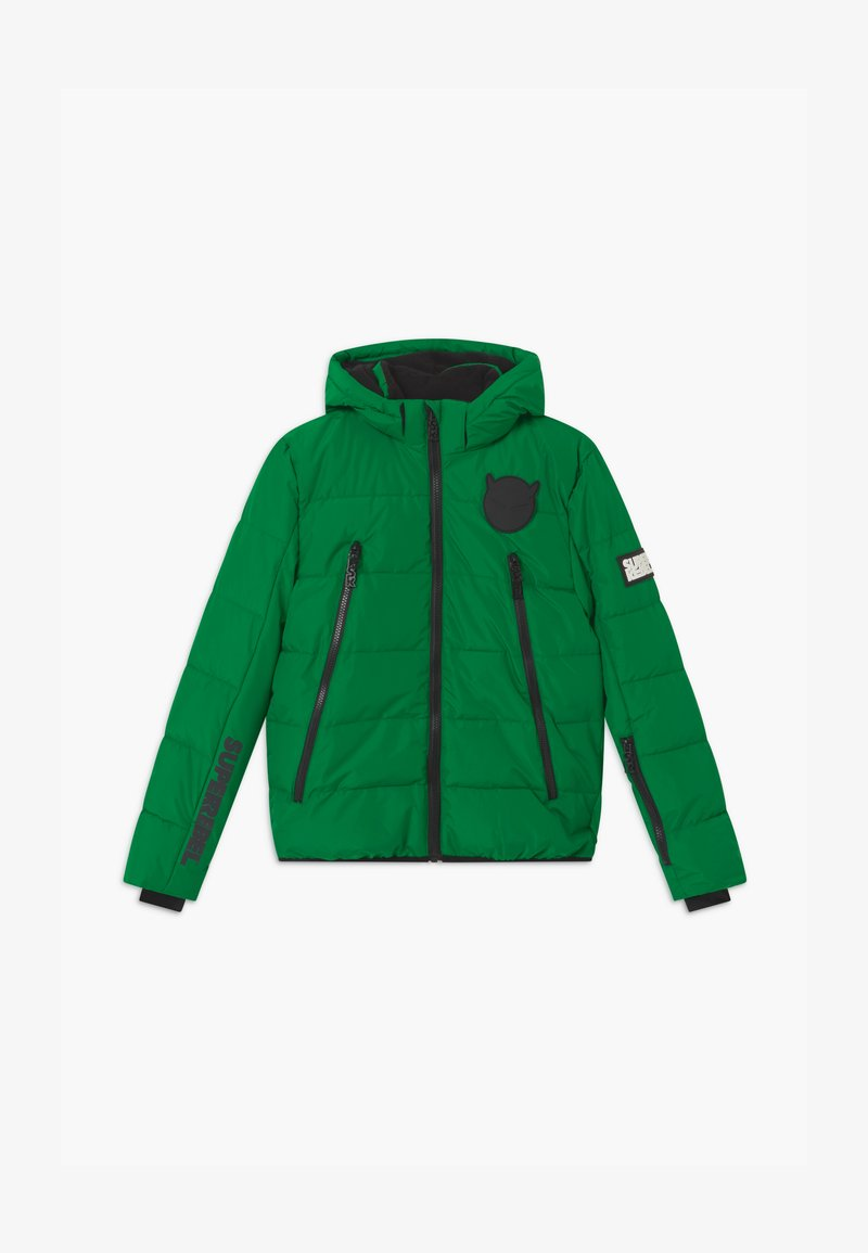 SuperRebel - SUSTAINABLE BASIC SHINY BOYS  - Snowboardová bunda - bottle green