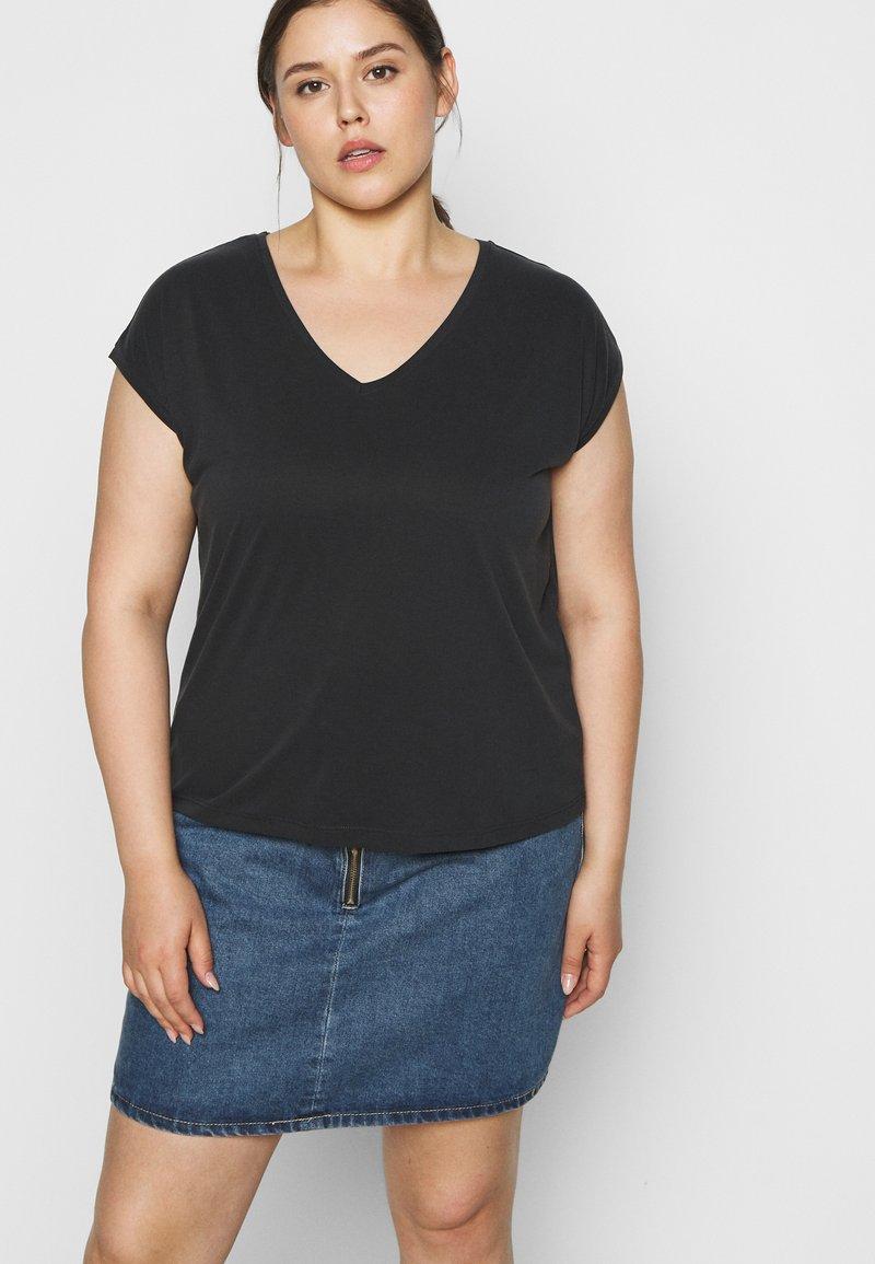 Pieces Curve - PCKAMALA TEE - T-shirts - black