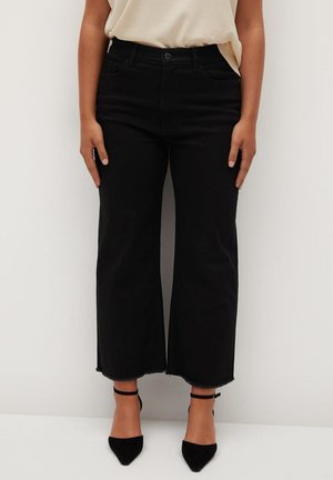 CHARLOTE - Trousers - black denim