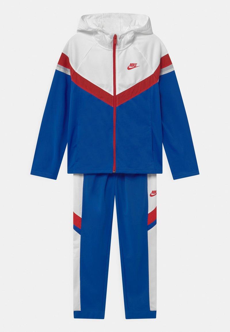 Nike Sportswear - POLY SET UNISEX - Tracksuit - game royal/white/university red