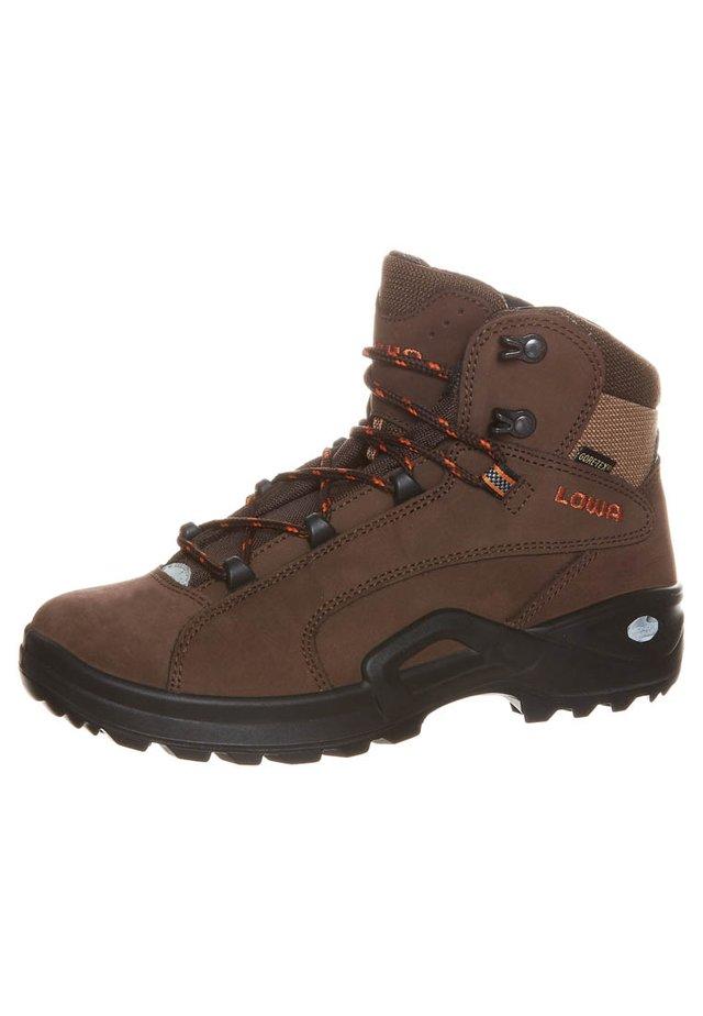 RENEGADE GTX MID - Hiking shoes - braun/orange