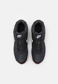 Nike Sportswear - AIR MAX 90 UNISEX - Sneakers laag - dark smoke grey/white/black/university red - 3