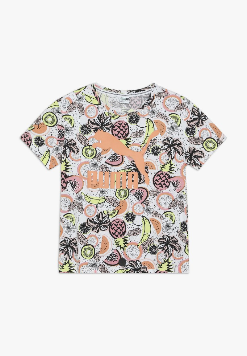 Puma - CLASSICS FRUIT TEE - Camiseta estampada - white