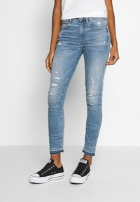 G-Star - HIGH SKINNY RIPPED ANKLE - Jeans Skinny Fit - vintage ripped sky - 0