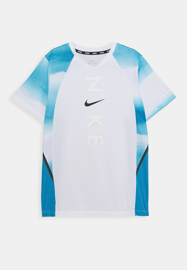 INSTACOOL - Print T-shirt - laser blue/white