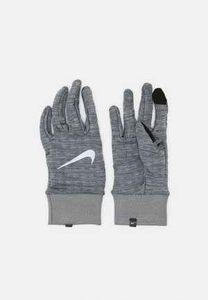 NIKE MEN'S SPHERE RUNNING GLOVES - Fingervantar - iron grey heather/grey fog/silver