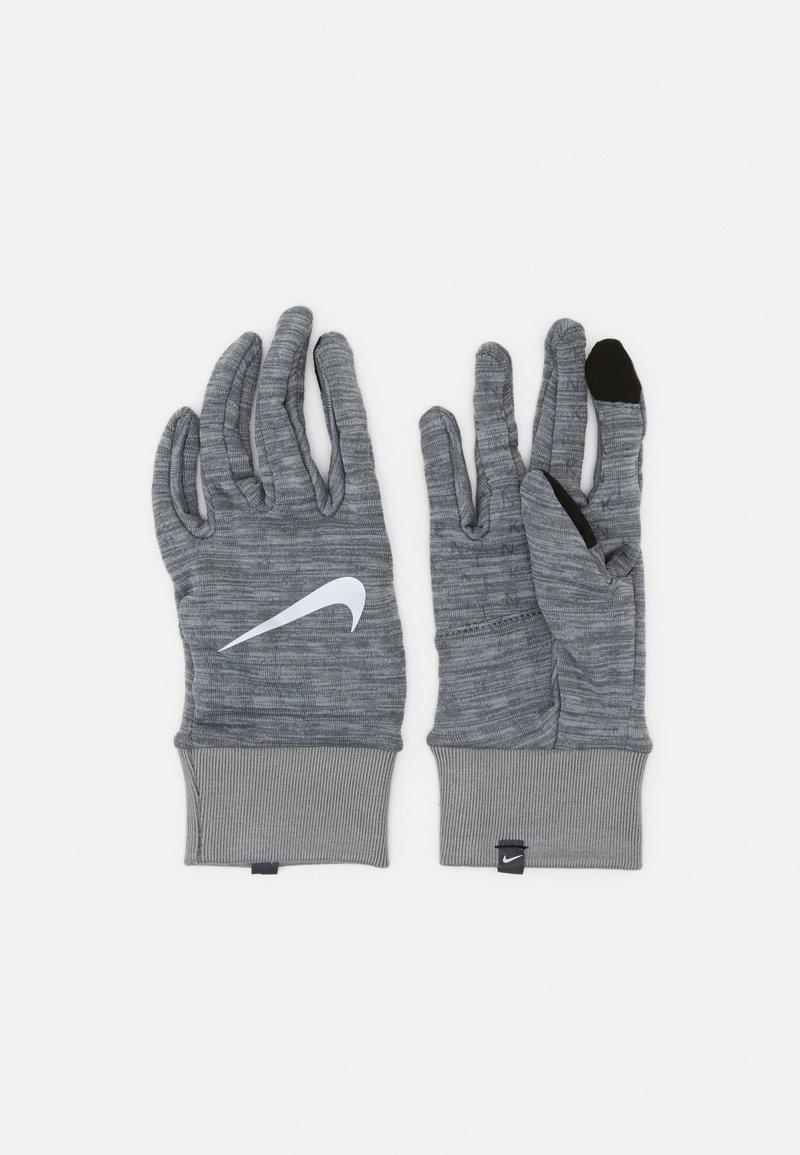 Nike Performance - NIKE MEN'S SPHERE RUNNING GLOVES - Hansker - iron grey heather/grey fog/silver