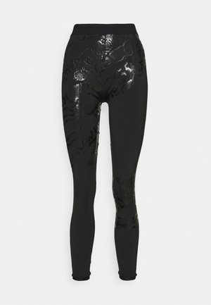 TRAIN PLACED PRINT FULL - Legginsy - black
