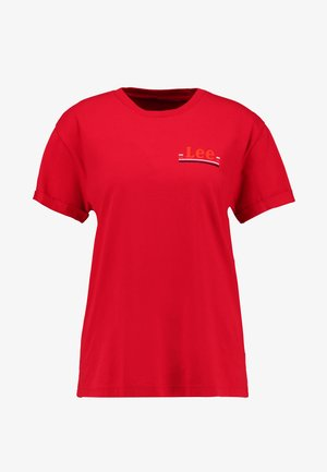CHEST LOGO TEE - Print T-shirt - warp red