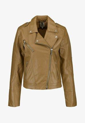 Faux leather jacket - tan
