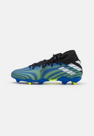NEMEZIZ 3 FG - Moulded stud football boots - royal blue/footwear white/solar yellow
