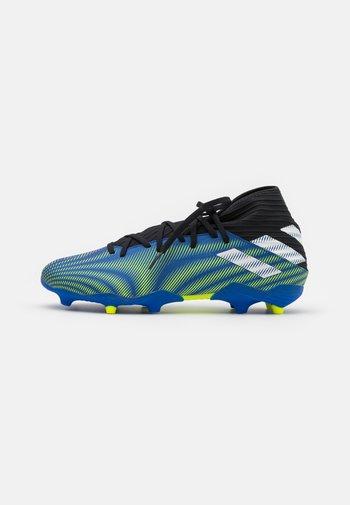 NEMEZIZ 3 FG - Fotbollsskor fasta dobbar - royal blue/footwear white/solar yellow