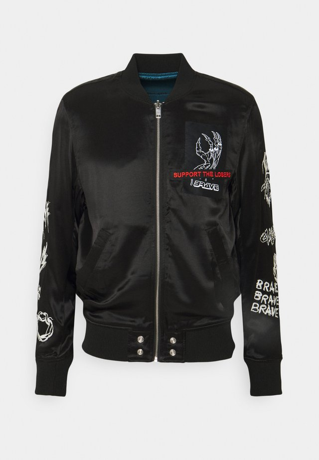 J-SMOKED GIACCA - Bomber Jacket - black