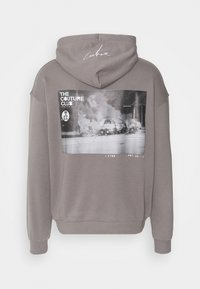 The Couture Club - GRAPHIC POCKET HOODIE WITH REMOVEABLE RUBBER BRANDIN - Sweatshirt - grey - 7