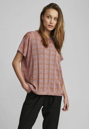 NUDARLENE DARLENE - Print T-shirt - ash rose