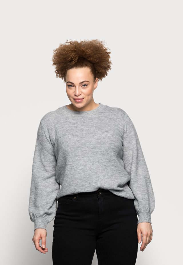 PCPERLA - Trui - light grey melange