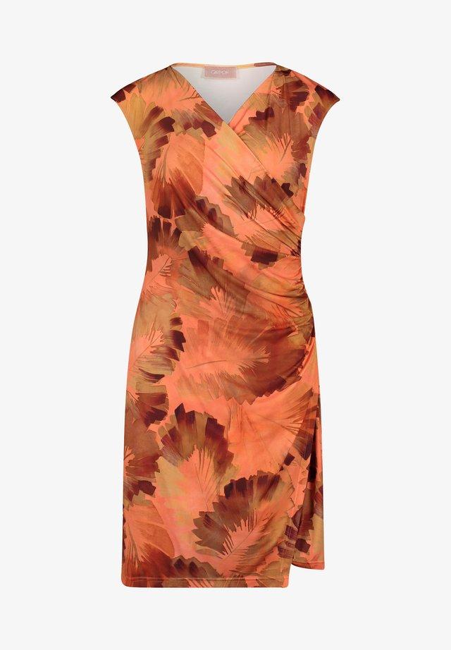 Etui-jurk - orange/brown