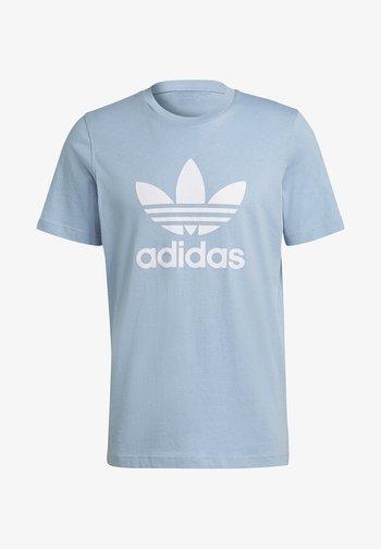 TREFOIL T-SHIRT ORIGINALS ADICOLOR - T-shirt med print - ambient sky/white
