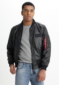 Alpha Industries - Leather jacket - black - 3