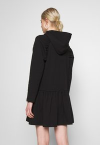 NA-KD - GATHERED HOODIE DRESS - Day dress - black - 2