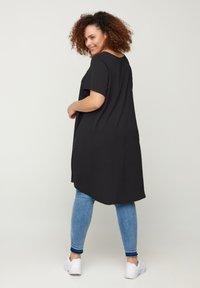Zizzi - MIT KURZEN ÄRMELN - Day dress - black - 2