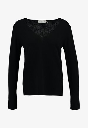 WOOL AND CASHMERE-MIX - Svetr - black