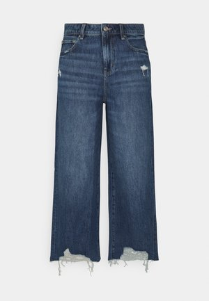 WIDE LEG CROP - Jean flare - empire blue