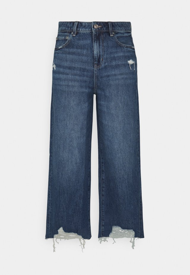 WIDE LEG CROP - Jeans a zampa - empire blue