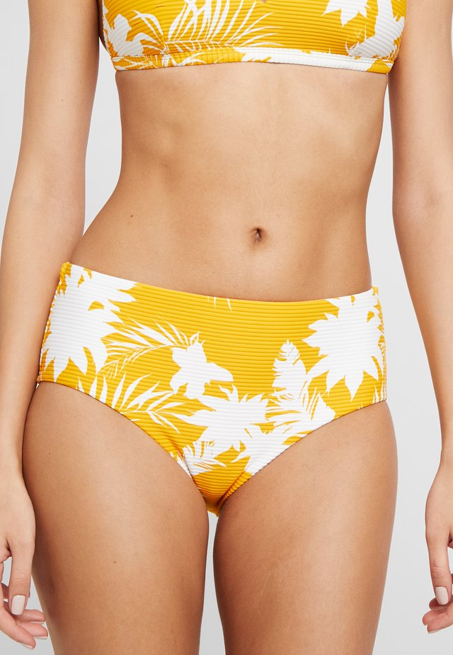 WILD TROPICS WIDE SIDE RETRO - Bikini bottoms - saffron
