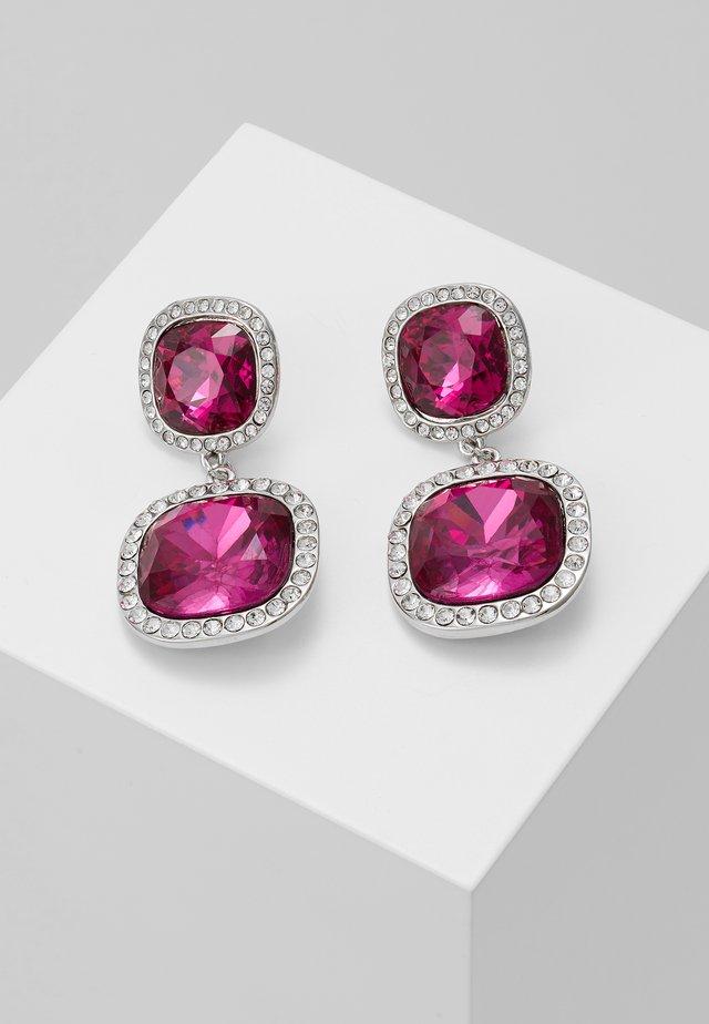 PAVE EDGE - Boucles d'oreilles - pink