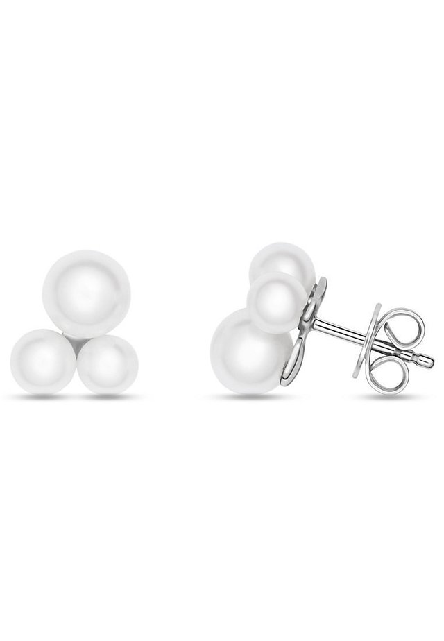 CHRIST PEARLS DAMEN-OHRSTECKER 925ER SILBER SÜSSWASSER - Earrings - silber