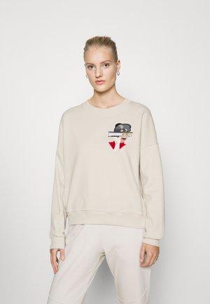 WITH ARCHITECT ILLUSTRATION - Sweatshirt - beige