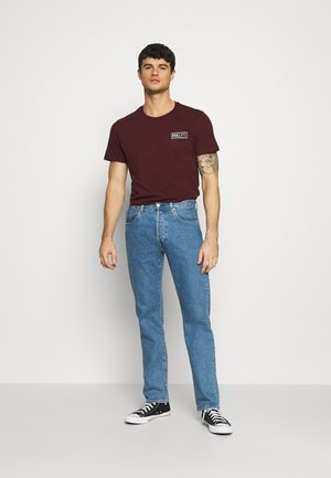 BROOKLYN CHEST TEE AND TOKYO 2 PACK - T-shirt imprimé - burgundy
