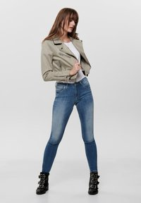 ONLY - Faux leather jacket - pumice stone - 1