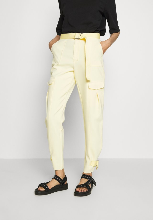 SKUNK TROUSER - Kangashousut - light yellow