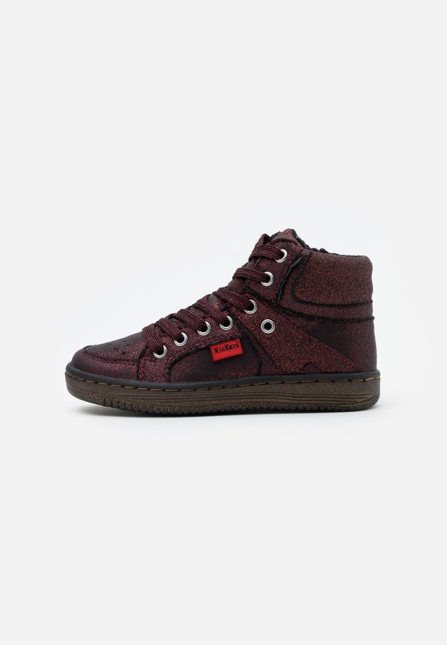 LOWELL - High-top trainers - bordeaux brillant