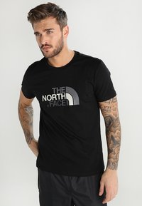 The North Face - M S/S EASY TEE - EU - Print T-shirt - black - 0
