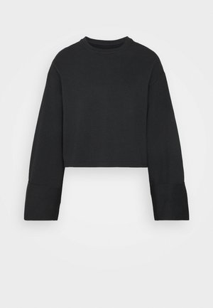 WIDE SLEEVE CROPPED SWEATSHIRT - Sweatshirt - black