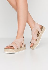 Simply Be - WIDE FIT DELAWARE - Loafers - nude - 0
