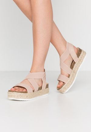 WIDE FIT DELAWARE - Loafers - nude
