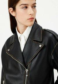 HUGO - LITSA - Leather jacket - black - 3