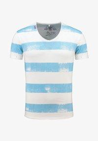 Key Largo - MT AIRFLIGHT - Print T-shirt - offwhite-blue - 0