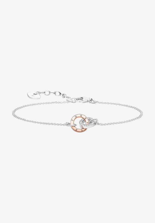 MIT DIAMANTEN UND ROSÉGOLD - Armband - silber