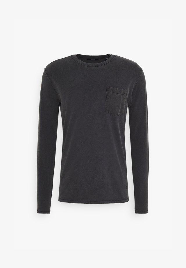 JPRBLALANCE TEE CREW NECK - Bluzka z długim rękawem - black