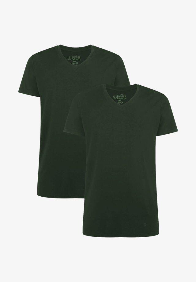 2 PACK - T-shirt basic - army