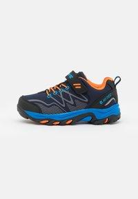 navy/orange/lake blue