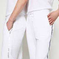 HUGO - DOAK METALLIC UNISEX - Tracksuit bottoms - white/silver - 6