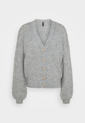 YASBETRICIA CARDIGAN - Strickjacke - light grey melange