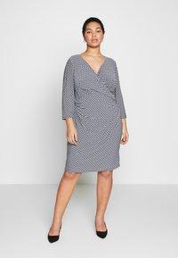 Lauren Ralph Lauren Woman - TIANA 3/4 SLEEVE DAY DRESS - Jersey dress - lighthouse navy/colonial - 0