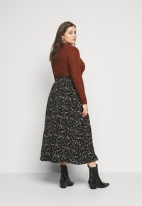 Glamorous Curve - SMUDGE SKIRT - A-line skirt - black smudge print new - 2